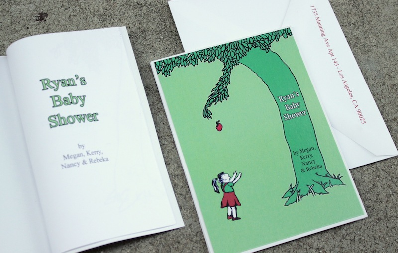 The Giving Tree Invitations For Book Theme Baby Shower Tanja Maduzia