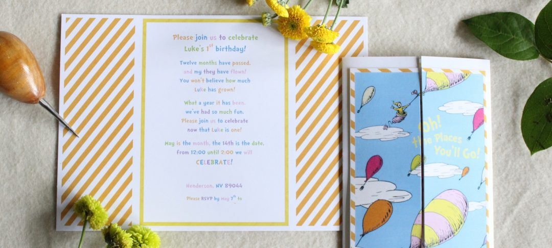 dr. seuss oh the places you'll go theme birthday party & baby, Baby shower invitations