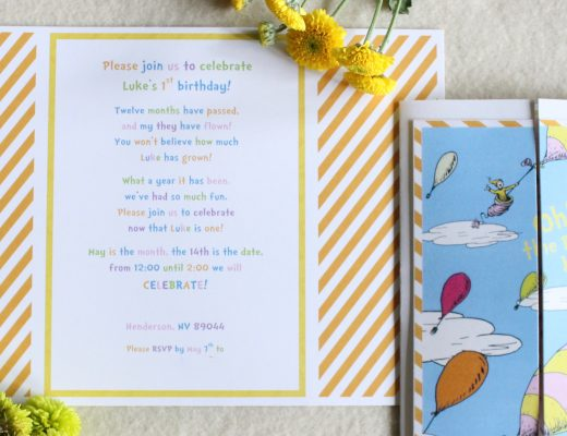 Dr Seuss Oh The Places Youll Go Theme Birthday Party Baby Shower Invitation