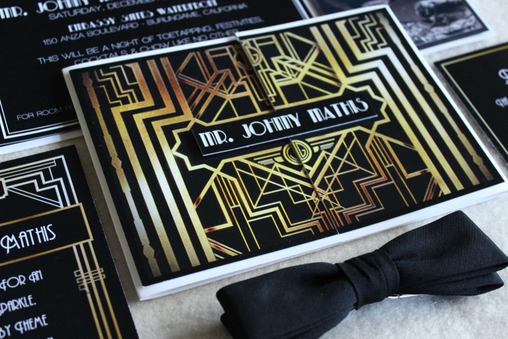 The Great Gatsby 1920\'s Theme Birthday Party Invitation – Tanja Maduzia