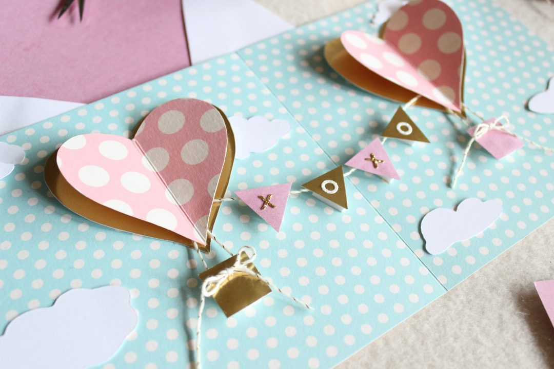DIY Heart Hot Air Balloon Pop Up Valentines Day Card Tanja Maduzia – Pop Up Valentines Day Card